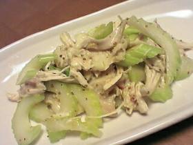 ☆鶏とセロリのマスタードマリネサラダ