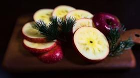 お洒落で簡単*りんごの切り方*