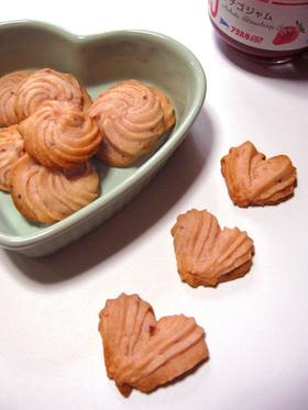 * 苺みるくクッキー *