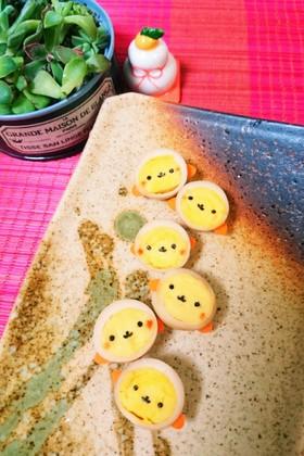 簡単可愛い♪うずら卵deおさるさん♪