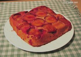簡単&ヘルシー♪プラムのさかさまケーキ