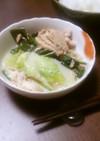白菜とツナの鶏がらスープ煮