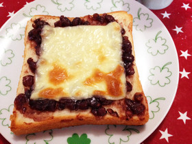 意外においしい☆チーズ&あずきトースト☆