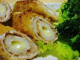 竹輪チーズの肉フライ