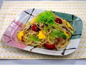 夏野菜のピリ辛焼ビーフン