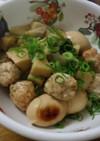鶏団子と卵の「親子煮」