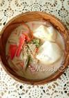 くるみ味噌の豆乳雑煮