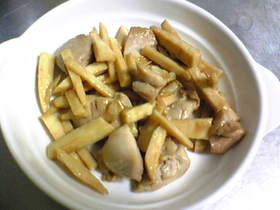長芋と鶏肉のオイスターソース炒め
