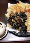 残った御節を使って茶碗蒸し、天婦羅、鯛飯