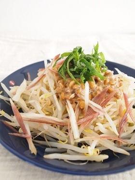 豆もやしと納豆で節約☆お助けレシピ