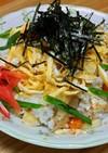 おせち残りで彩り鮮やか簡単ちらし寿司