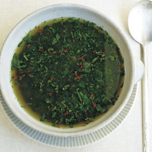 モロヘイヤの和風スープ