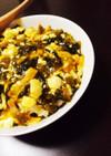 高菜漬で☻高菜と豆腐のあんかけ丼