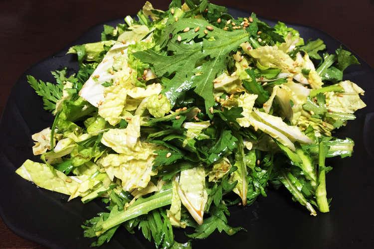 簡単美味しい!白菜と春菊のサラダ レシピ・作り方 by hachikoxxx ...