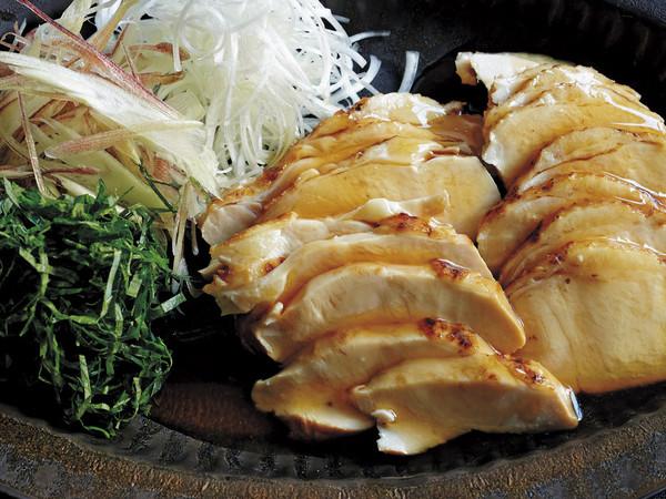 鶏ハムの香味野菜添え