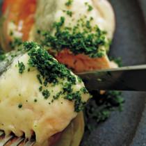 鮭とトマト、玉ねぎのチーズ焼