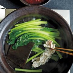 小松菜と豚肉のしゃぶしゃぶ鍋