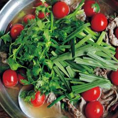 ニラと牛肉のエスニック鍋