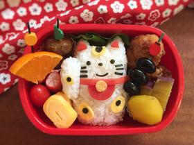 キャラ弁☆招き猫ちゃん☆お正月弁当☆