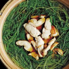 水菜と鶏肉の甘辛鍋