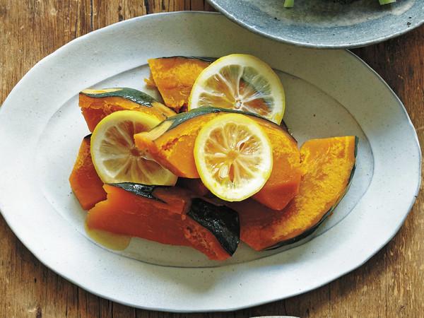 かぼちゃのレモン蒸し