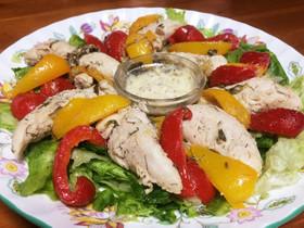 ヘルシー♡塩ドレで作るササミ温野菜サラダ