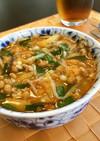 ピリ辛納豆キムチスープ