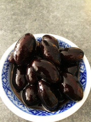丹波の黒豆煮(豆サイズ3L、圧力鍋使用)の写真