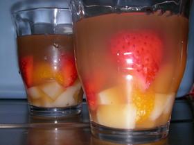 簡単☆紅茶の寒天フルーツゼリー