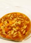 カレー味のトマトとレンズ豆のスープ