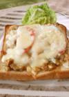 豚みそ漬けのリエットチーズトースト