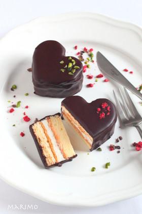 バレンタインに☆ハートのチョコケーキ