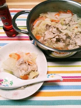 ★ひとり鍋diet第二弾★豚バラ中華鍋