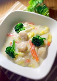 ホタテの中華風クリーム煮