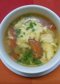 超簡単☆時短☆トマトと卵の中華スープ