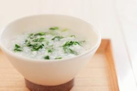 鶏味塩 de 七草粥(だしのあん)添え