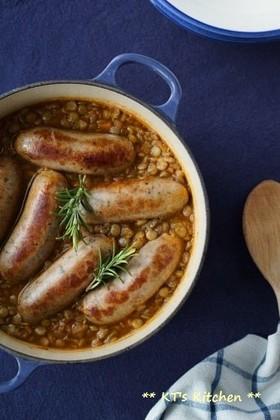レンズ豆とソーセージの煮込み