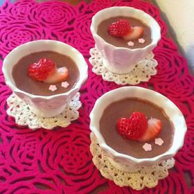 甘くとろける食感♡マシュマロチョコムース