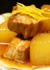 味が染み込む豚バラ肉と大根の煮込み