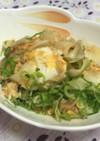 百合根と豚肉の卵とじ