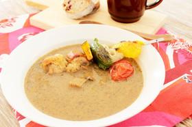 グリル野菜と黒ゴマ豆乳スープカレー