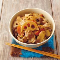 根菜のすき煮丼