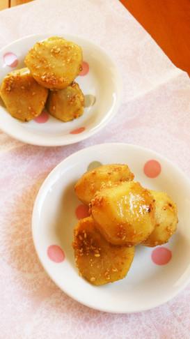レンジで簡単☆里芋の胡麻煮っころがし。