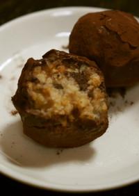 明治ミルクチョコレートでクッキートリュフ