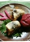 鰯の天ぷら・大葉と梅肉で