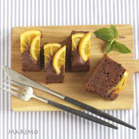 チョコとオレンジのケーキ
