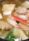 冷凍蟹でカニ鍋♡お出汁が美味しい