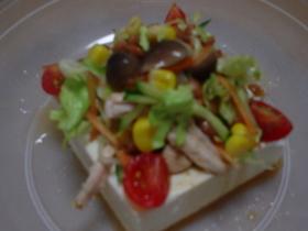 ・・・☆ヘルシ~ 豆腐サラダ☆・・・