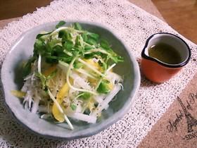大根とパプリカのサラダ♪塩麹ドレで☆
