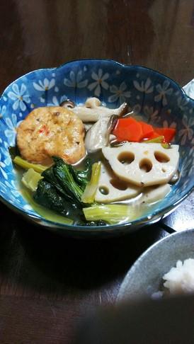 野菜とがんもの煮物